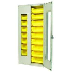 Doors, Louvered Panel, 18 Yellow AkroBins, 36 W x 18 D x 78 H Home