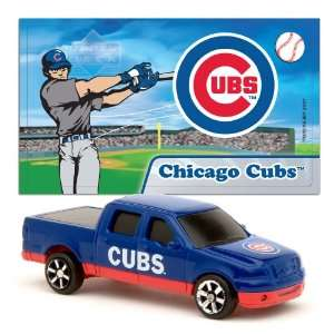 MLB 1:87 Scale Ford F 150 with Team Mascot Sticker   Cubs (2 Packs
