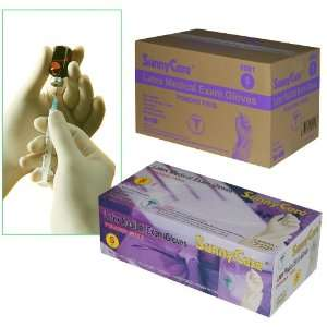 Sunnycare #6601 Latex Medical Exam Gloves Powder Free Size