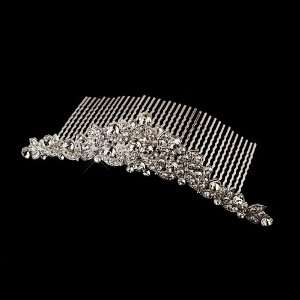 Antique Silver Rhinestone Hair Comb Jewelry
