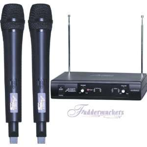 2000 Super Value VHF Wireless Microphone System AWM6022 Electronics