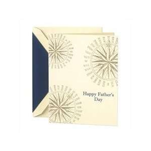 Hand Engraved Compass Fathers Day Greeting Card Health