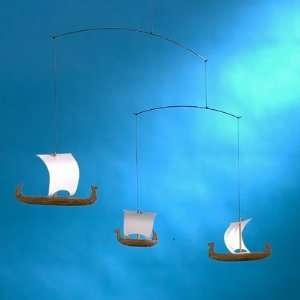 Flensted Mobiles f017 Viking Mobile with Three Ships Baby