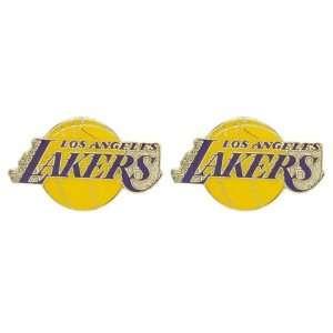 Los Angeles Lakers   NBA Team Logo Post Earrings Sports