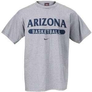 Arizona Wildcats Nike Basketball Grey tee Shirt Sports