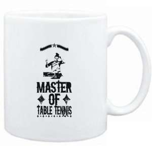 Mug White  Master of Table Tennis  Sports Sports