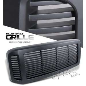 Ford F250 Sport Grill   Black Painted 1 piece Billet Style: Automotive