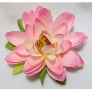 Light Pink Lotus Water Lily Hair Flower Clip Everything