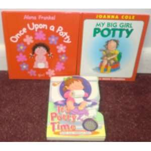 Set of 3   GIRL POTTY TRAINING BOOKS   Once Upon a Potty
