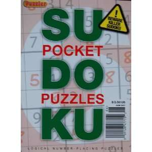 Pocket Sudoku Puzzles March 2007 Puzzler Books