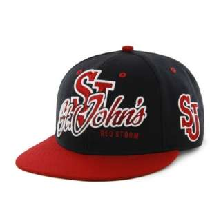 St. Johns Red Storm Embroidered Flat Billed Snapback Cap