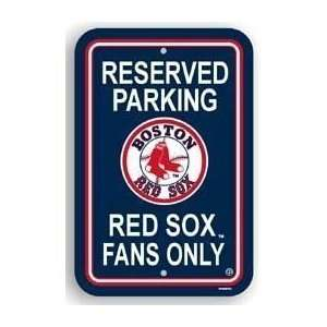 Parking Sign   MLB Baseball   Boston Red Sox Red Sox Fans Only