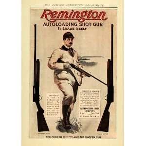 1906 Ad Remington Autoloading Shot Gun Kick Hunt Trap