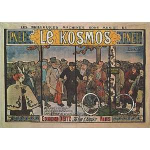 LE KOSMOS PNEU TIRES BICYCLE BIKE CYCLES PARIS FRANCE FRENCH VINTAGE