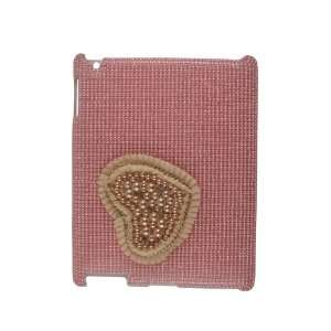 Pink Heart Bling Rhinestone Case for Apple iPad 2