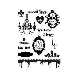 Unity Stamps Marah Johnson Unmounted Red Rubber Stamp Set