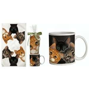 Kitty Cat Kitten Feline Gift Set ~~ Includes 11 ounce COFFEE MUG