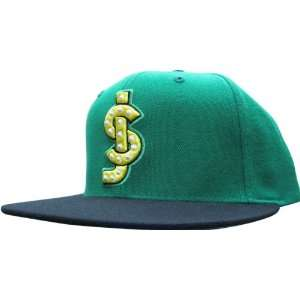 Classic Shake Junt Logo Hat Green/Black Snap Back: Sports & Outdoors