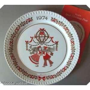 Spode Christmas Plate 1974 Gillian West