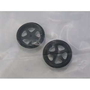 JDS   Black 5 Spoke Drag Front Wheels, 3/4 Diameter (Slot