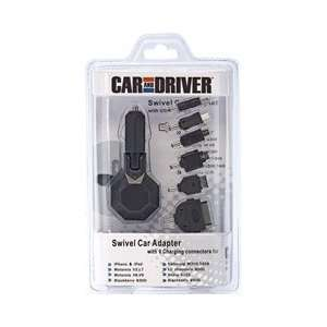 Driver UNIVERSAL SWIVEL CAR CHARGEROUTPUT TO 3 FEMALE USB (Batteries