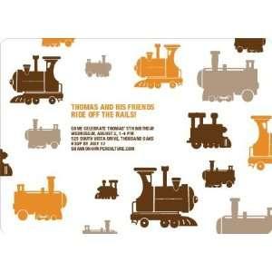 Thomas Loves the Train Birthday Party Invitation Health