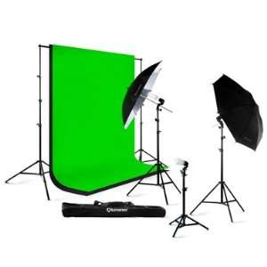 Studio 32 Black Umbrella Continuous Lighting Kit