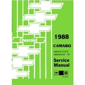 com 1988 CHEVROLET CAMARO Shop Service Repair Manual Book Automotive