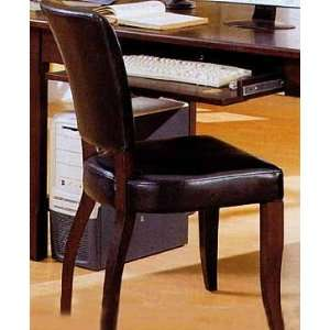 Vinyl And Wood Grain Finish Desk Chair