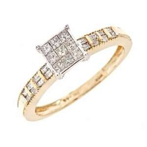 CT. T.W. Diamond Ladies Engagement Ring 14K Yellow Gold Jewelry