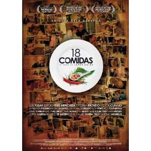 18 comidas Poster Movie Spanish (11 x 17 Inches   28cm x