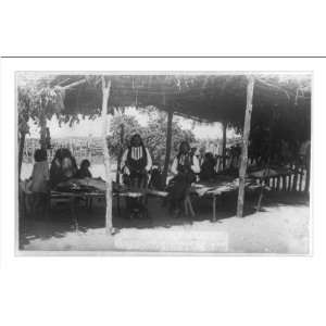 Historic Print (M): White Wolfs camp, Comanche Nation, Indian
