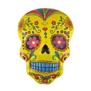 OF THE DEAD Skull Wall Hanging LED Eyes