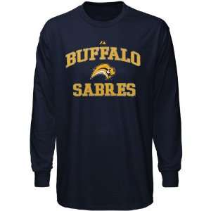 NHL Majestic Buffalo Sabres Navy Blue Heart & Soul Long