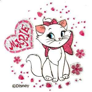 Iron On Transfer for T Shirt ~ Disney ~ Hearts & Flowers ~ Love ~ Cat
