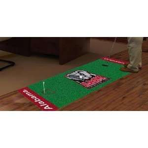 Alabama Crimson Tide Golf Putting Green Runner Area Rug