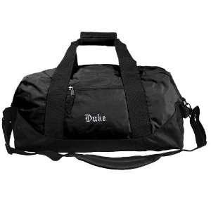 Duke Blue Devils Black Explorer Duffle Bag  Sports