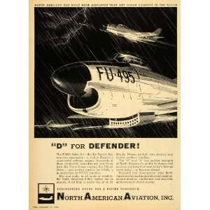 Ad North American Aviation F86D Sabre Jet Airplane   Original Print Ad