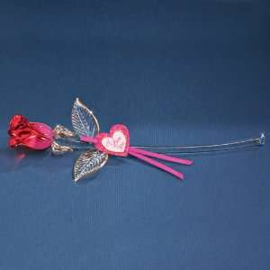 Passion Red Glass Rose Jewelry