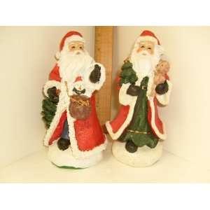 Father Christmas Santa Claus 7.5 Polyresin Figures