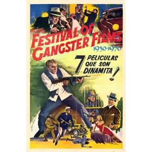 MGMs Festival of Gangster Films 1930   1970 Movie Poster (27 x 40