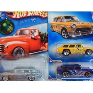 Hot Wheels Chevy Nomad Set 09 5 Spoke 55 Yellow & The FTE Blue With