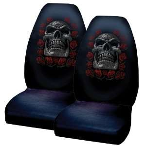 Tribal Tattoo Skull Day of the Dead Front Bucket Licensed Seat Covers