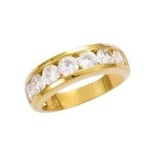 Clear Cubic Zirconia Half Eternity Wedding Band Ring   Size 6 Jewelry
