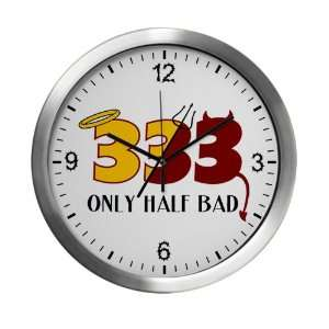 Modern Wall Clock 333 Only Half Bad with Angel Halo Devil