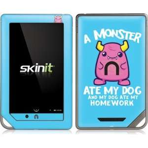 Skinit A Monster Ate My Homework Vinyl Skin for Nook Color