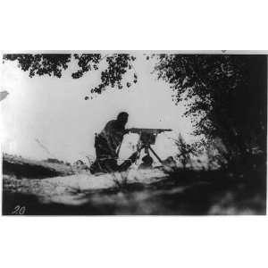 Desperate   in the Mexican War,c1912, Machine Gun