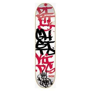 DGK GRAFFITI STACKED DECK  8.06 white: Sports & Outdoors