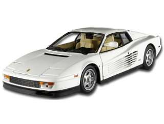 Ferrari Testarossa (Miami Vice TV Show) in White (118 scale by Mattel
