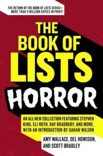 BARNES & NOBLE  Book of Lists: Horror by Amy Wallace, HarperCollins